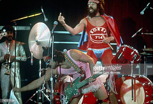 Cheech Marin and Tommy Chong of the comedy duo Cheech and Chong perform in a scene from the movie Cheech Chong's Next Movie which was released in 1980