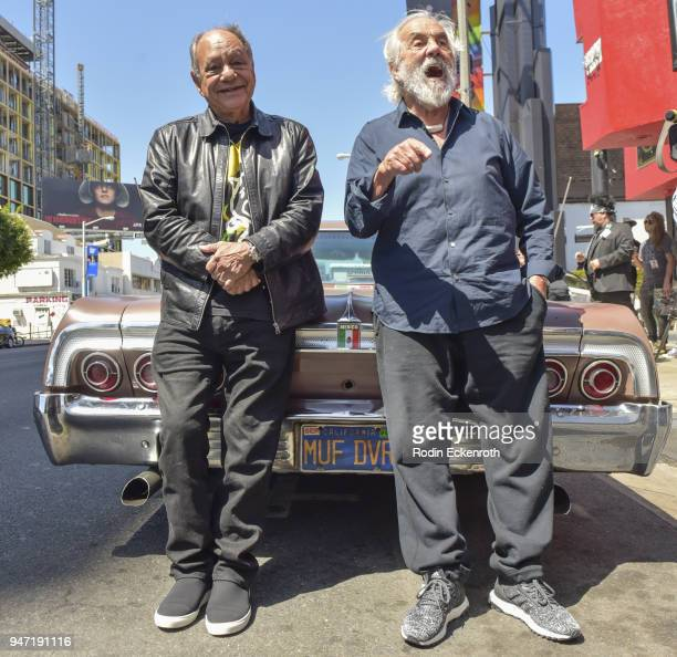 Cheech Marin and Tommy Chong pose for portrait at the Key to The City of West Hollywood Award Ceremony at The Roxy Theatre on April 16 2018 in West...