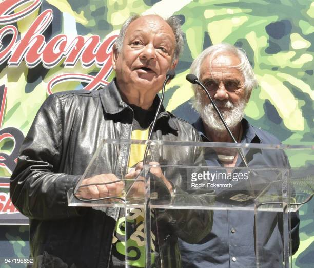 Cheech Marin and Tommy Chong speak onstage at the Key to The City of West Hollywood Award Ceremony at The Roxy Theatre on April 16 2018 in West...