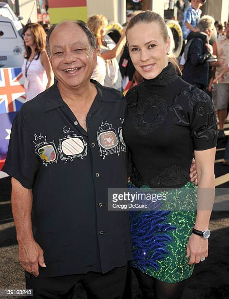Cheech Marin and wife Natasha Marin arrive at the World Premiere of Disney Pixar's Cars 2 at the El Capitan Theatre on June 18 2011 in Hollywood...