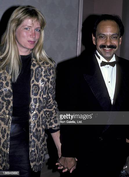 Cheech Marin and wife Patti Heid attend Nostros Golden Eagle Awards Gala on June 24 1986 at the Beverly Hilton Hotel in Beverly Hills California