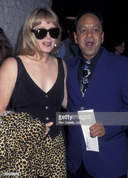 Cheech Marin and wife Patti Heid attend the premiere of Desperado on August 21 1988 at Mann National Theater in Westwood California