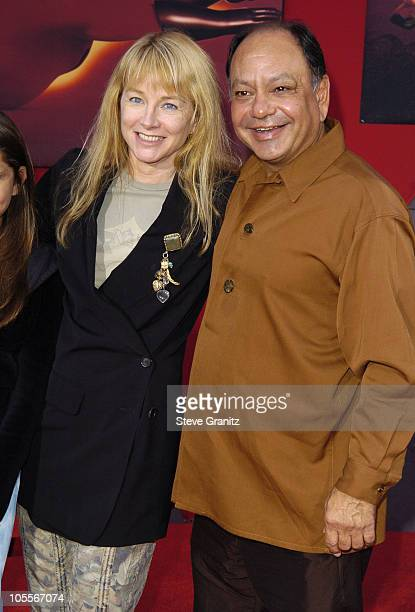 Cheech Marin and wife Patti Heid during The Incredibles Los Angeles Premiere Arrivals at El Capitan in Hollywood California United States