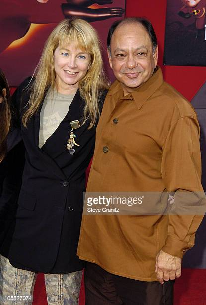 Cheech Marin and wife Patti Heid during 'The Incredibles' Los Angeles Premiere Arrivals at El Capitan in Hollywood California United States