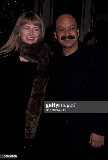 Cheech Marin and wife Patti Heid sighted on December 6 1994 at the Plaza Hotel in New York City