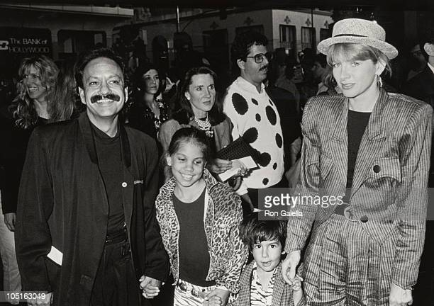 Cheech Marin Family during 'Ghostbusters II' Hollywood Premiere June 15 1989 at Mann's Chinese Theater in Hollywood California United States