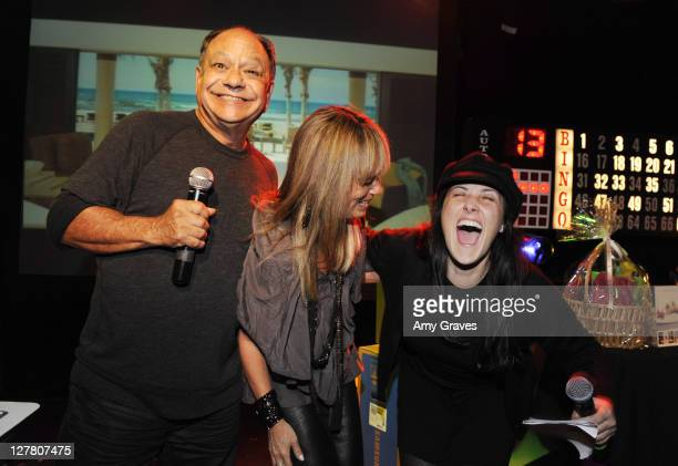 Cheech Marin, Julia Sorkin and Ricki Lake attend Bingo Night at The Roxy To Benefit The Painted Turtle at The Roxy Theatre on March 23, 2011 in West...