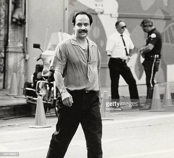 Cheech Marin on film set in Los Angeles