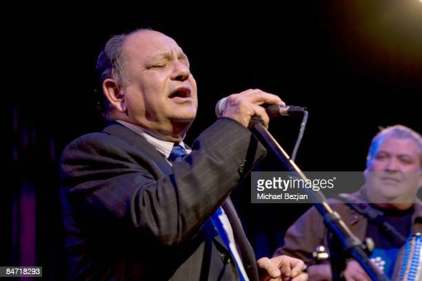 Cheech Marin performs with Los Lobos at the CRLA Tequio Fundraiser Gala at the Beverly Hilton Hotel on February 9 2009 in Beverly Hills California