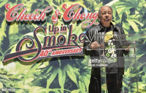 Cheech Marin speaks onstage at the Key to The City of West Hollywood Award Ceremony at The Roxy Theatre on April 16 2018 in West Hollywood California