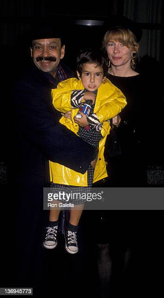 Cheech Marin wife Patti Heid and son attend the premiere party for Oliver and Company on November 13 1988 at Tavern on the Green in New York City