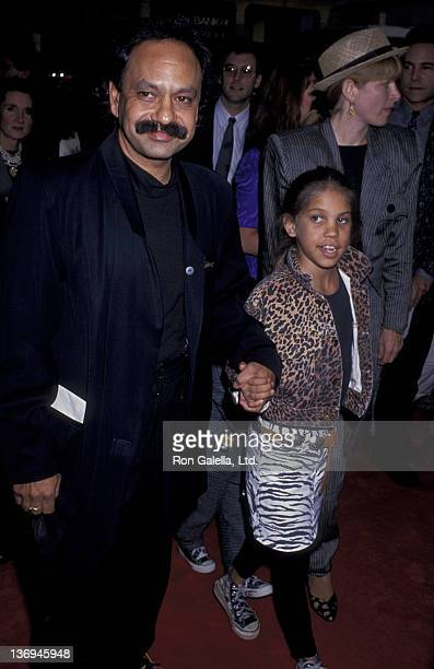 Cheech Marin wife Patti Heid daughter and son attend the premiere of Ghostbusters II on June 15 1989 at Mann Chinese Theater in Hollywood California