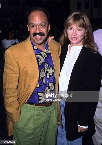 Cheech Marin wife Patti Heid during The Mask Los Angeles Premiere at Academy of Motion Picture Theater in Beverly Hills California United States