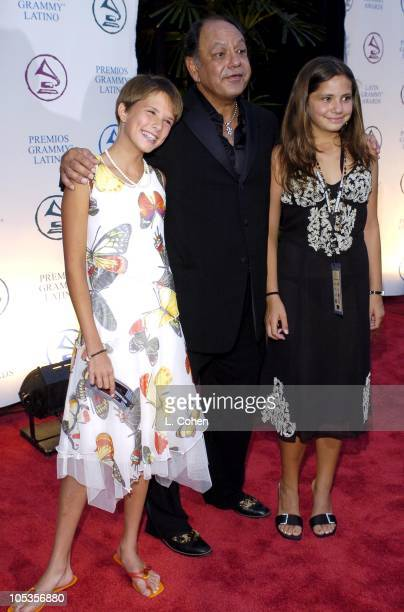 Cheech Marin with daughters Claudine and Jasmine