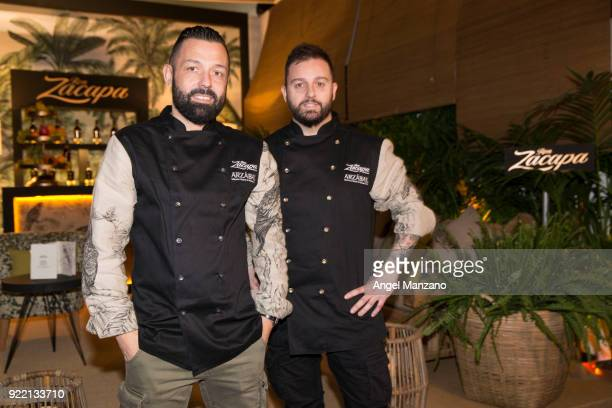 Cheefs Ivan Morales and Alvaro Castellanos from Arzabal in Martina´s Klein design presentation for Zacapa run At ARCO Fair at Ifema on February 21...