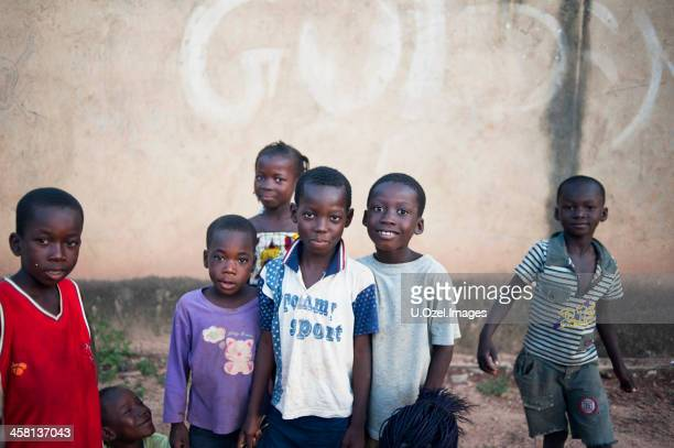 cheeful african children - burkina faso stock pictures, royalty-free photos & images