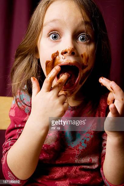 Chocolat fille désinvolte