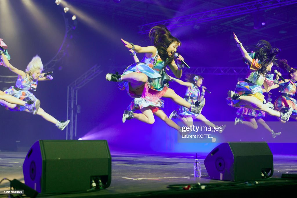 Cheeky Parade showcase during the 17th annual Japan Expo at Paris-Nord Villepinte Exhibition Center on July 10, 2016 in Villepinte, France.