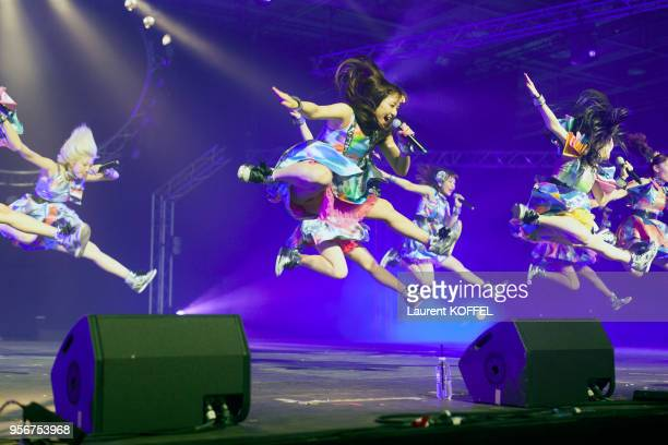 Cheeky Parade showcase during the 17th annual Japan Expo at ParisNord Villepinte Exhibition Center on July 10 2016 in Villepinte France