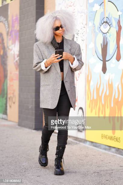 Cheeno Grey is seen on March 18, 2021 in Los Angeles, California.
