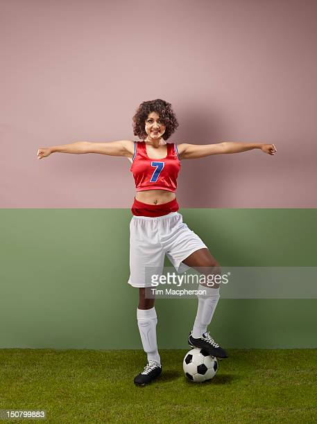 cheer leader top, footballer bottom - black cheerleaders stock photos and pictures