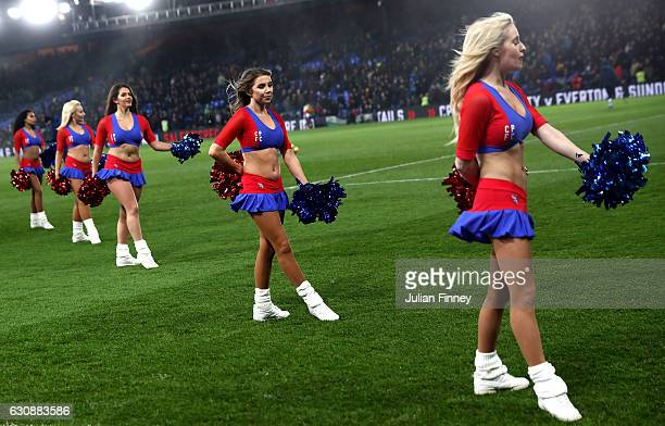 Cheer leaders of Crystal Palace perform prior to the Premier League match between Crystal Palace and Swansea City at Selhurst Park on January 3 2017...