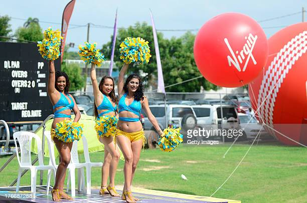 Cheer leaders prior to the Eighteenth Match of the Cricket Caribbean Premier League between St Lucia Zouks v Trinidad and Tobago Red Steel at Sabina...