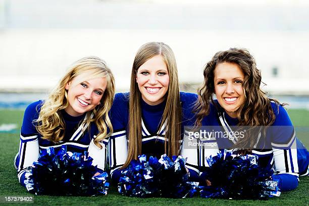 cheer team - cheerleaders stock photos and pictures