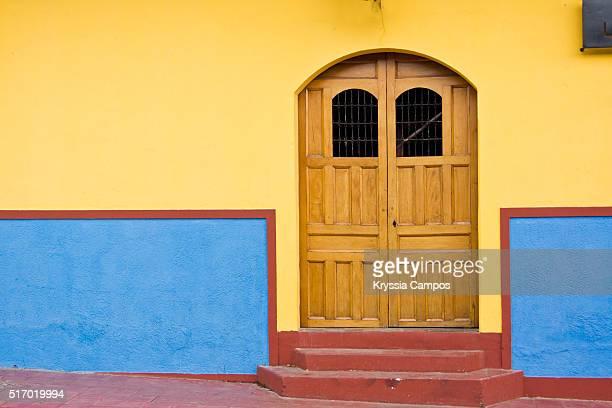 Cheerful and colorful door in Granada, Nicaragua