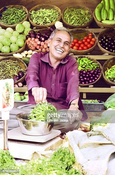 Cheerful And Warm Indian Street-side Vendor