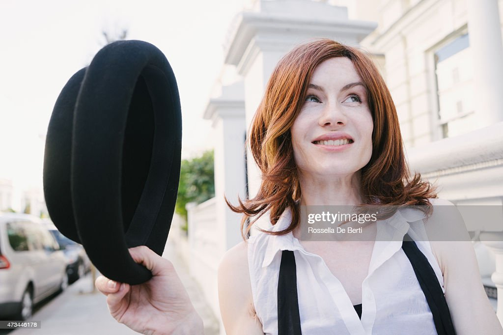 Cheerful Androgynous Man Crossdressed As Woman : Stock Photo