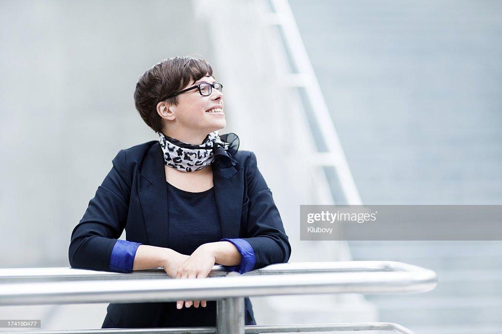 Cheerful Businesswoman : Stock Photo