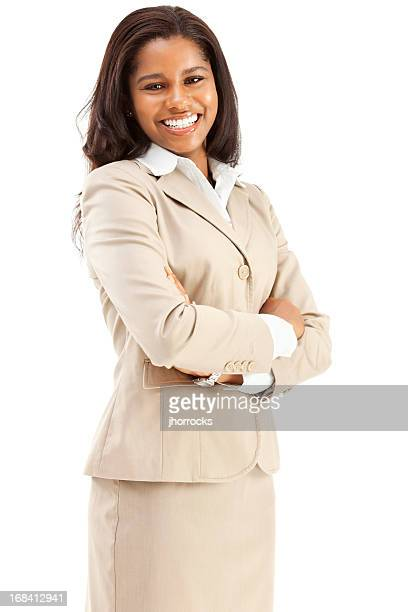 Cheerful Confident Young African American Businesswoman