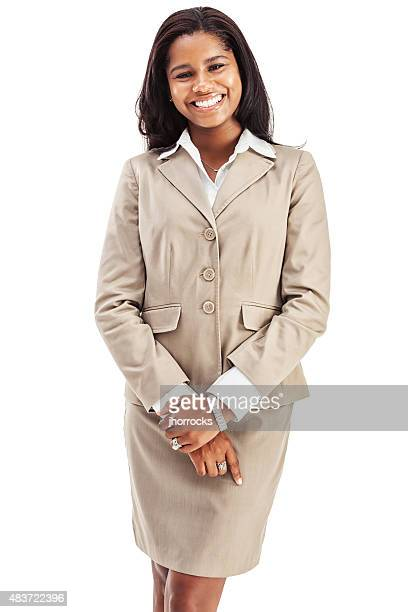 cheerful confident young african american businesswoman - saleswoman stock photos and pictures