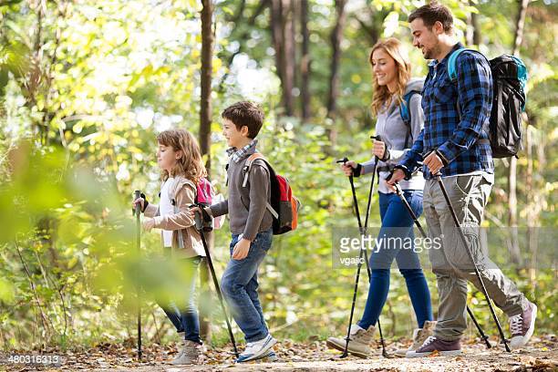 Cheerful Family Hike.