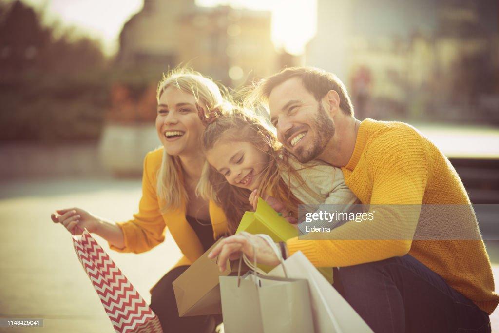 Cheerful family. : Stock Photo