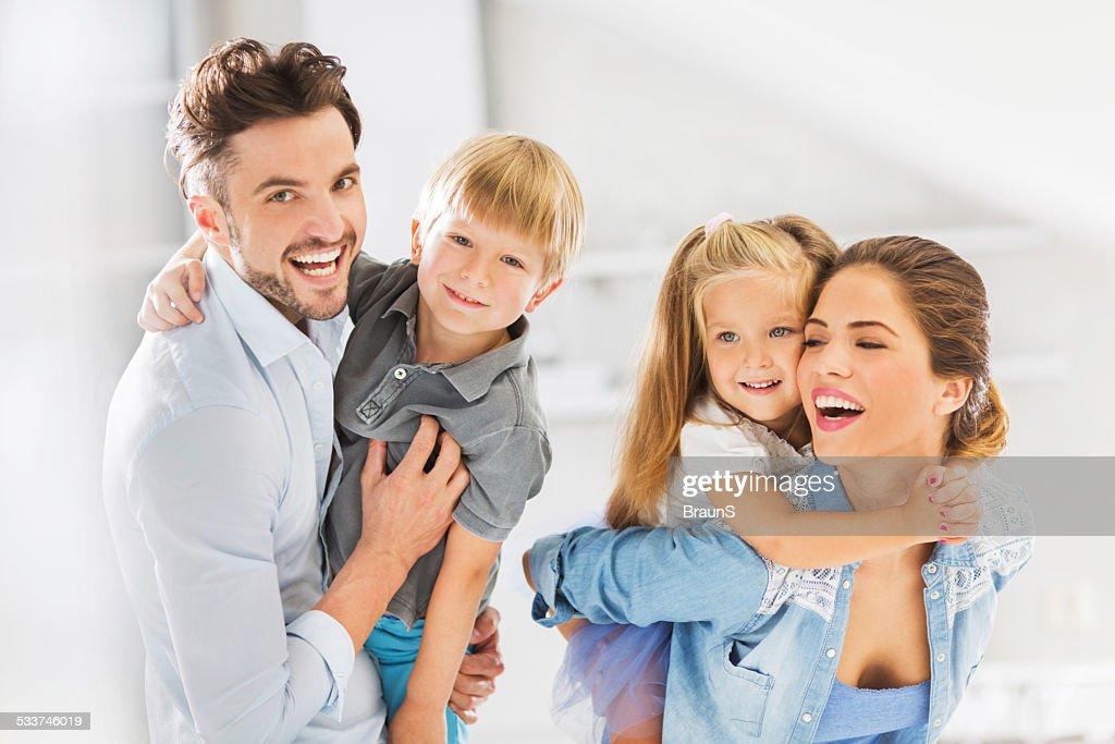 Allegra famiglia. : Foto stock