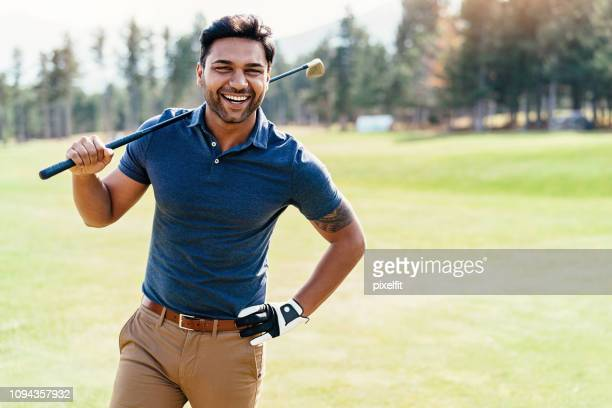 cheerful golf player - golf stock pictures, royalty-free photos & images