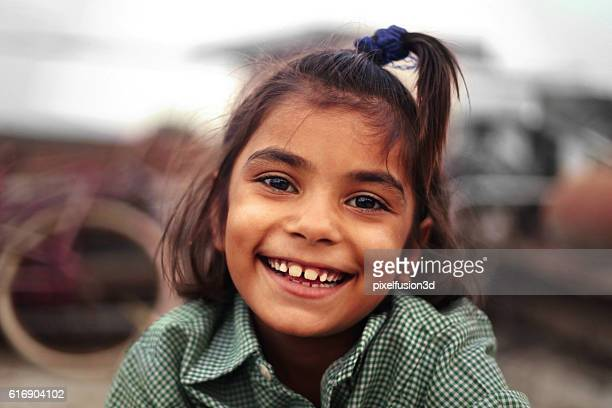 cheerful happy girl - armoede stockfoto's en -beelden