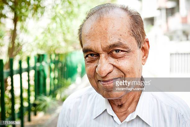Cheerful Indian Senior Man