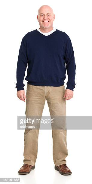 cheerful man standing portrait - sweater stock pictures, royalty-free photos & images