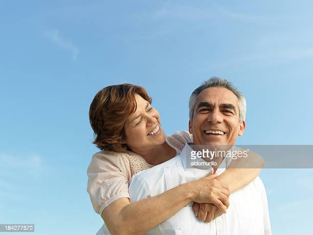 Cheerful mature couple
