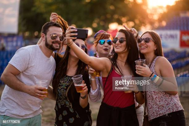 cheerful people making selfie - beer festival stock pictures, royalty-free photos & images