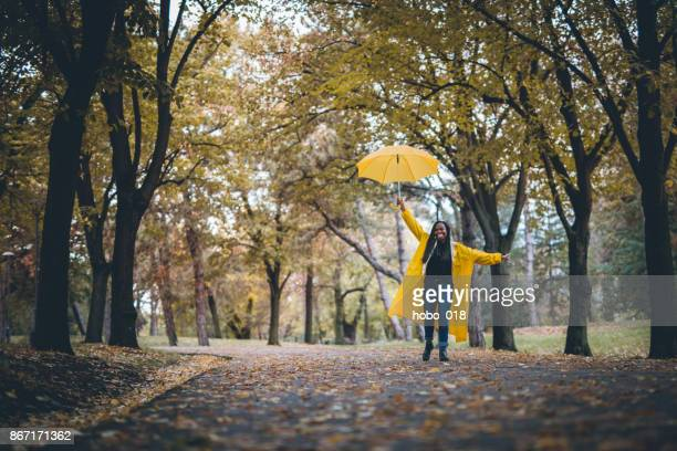 Cheerful rain dance