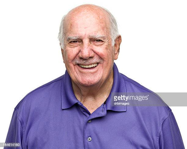 cheerful senior man - completely bald stock pictures, royalty-free photos & images