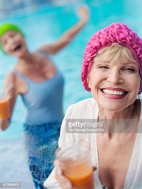 Cheerful Senior Women in Their Swimwear