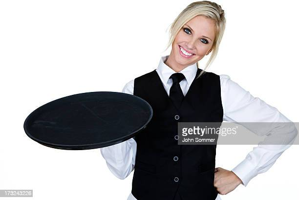 Cheerful waitress