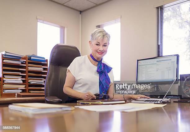 Cheerful woman CEO