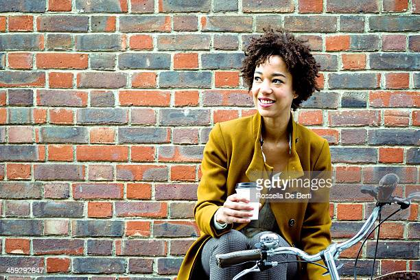 Cheerful Woman Drinking Tea
