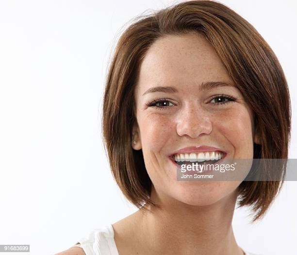 cheerful woman - freckle stock photos and pictures